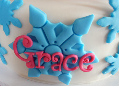 Snowflake on Cake