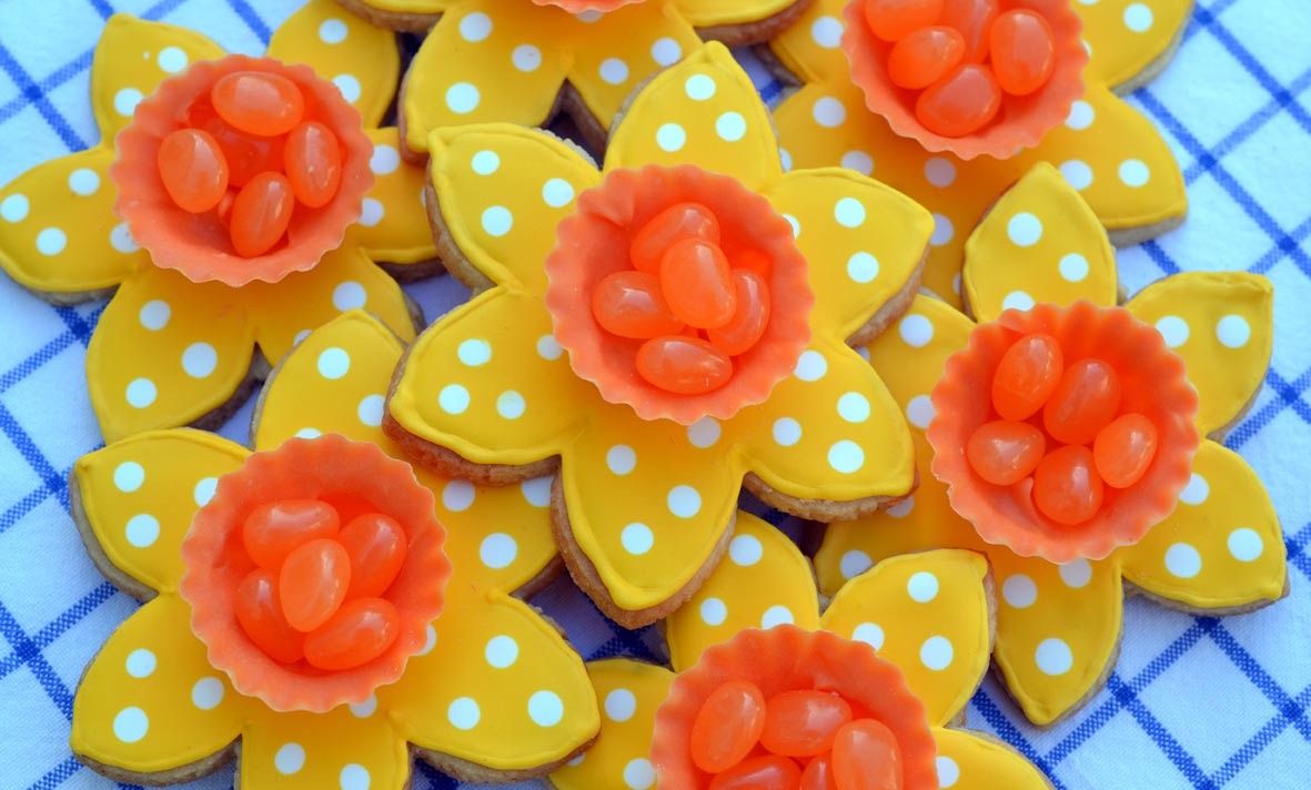 Daffodil Candy Cup Cookies