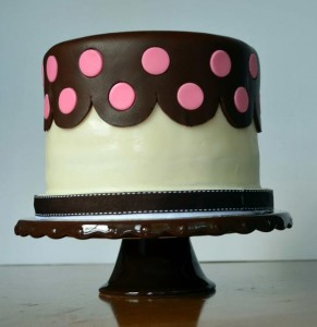 Cake & Cupboard Polka Dot Cake