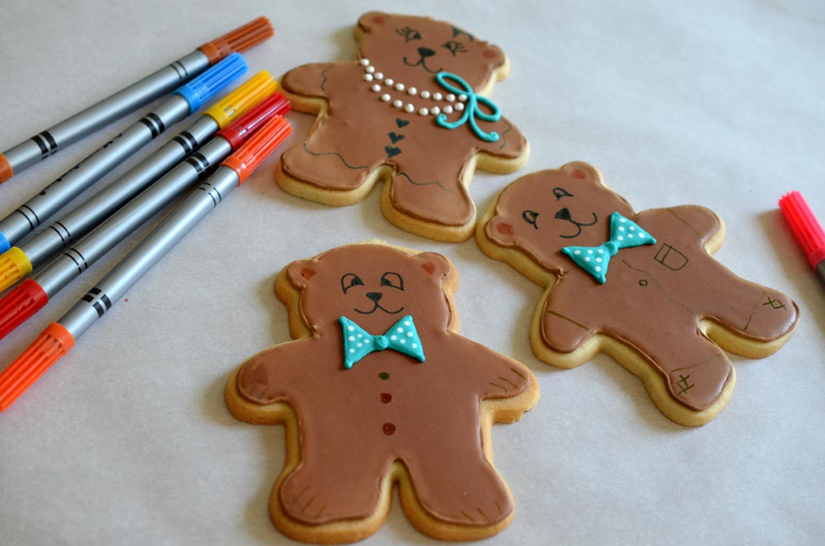 Decorated Teddy Bear Cookies