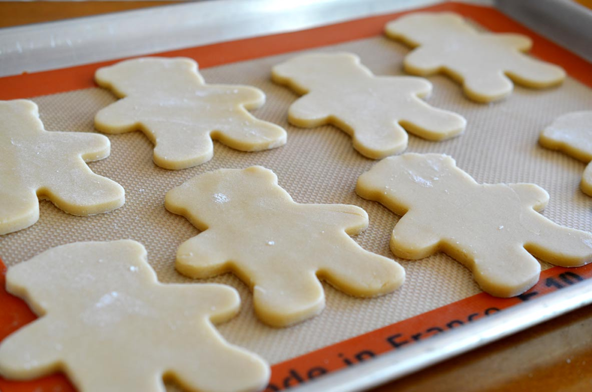 Teddy Bear Cookies, unbaked