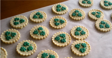 Lucky Shamrock Cookies