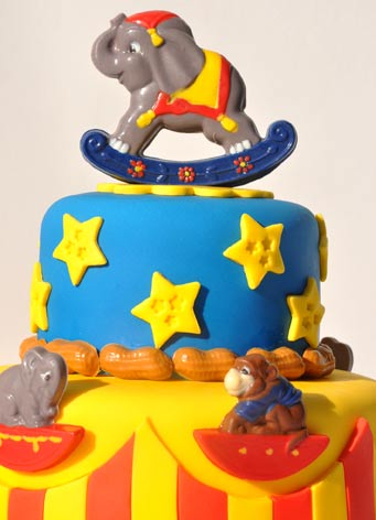 Top of Circus Cake