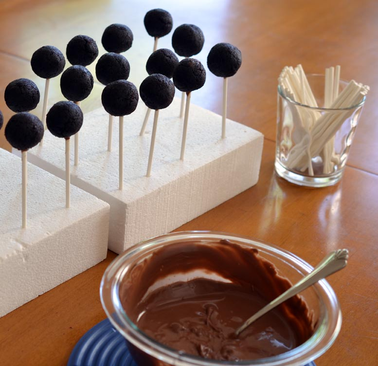 Cake pops on sticks