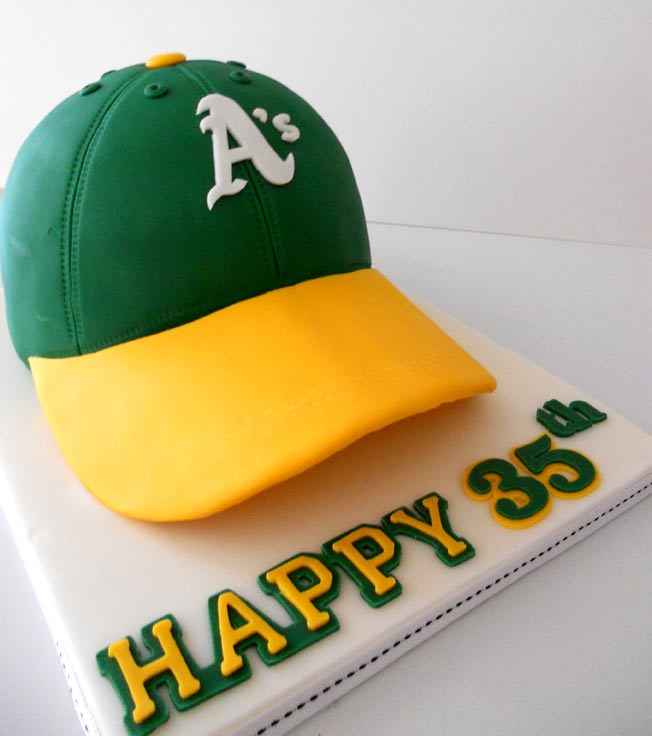 Side View of A's Hat Cake