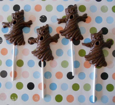 Haunted Tree Chocolate Suckers