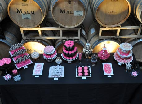 Pink and Black Dessert Bar