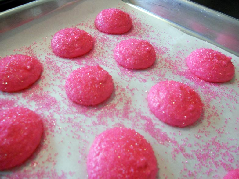 Sparkly macaron tops