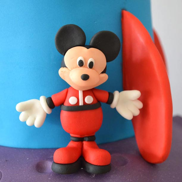 Mickey gum paste figure