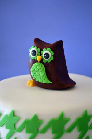 Owl Houndstooth Cake