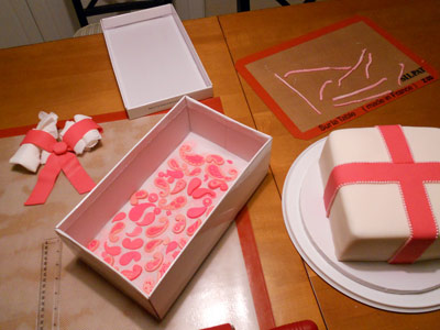 Materials for paisley cake
