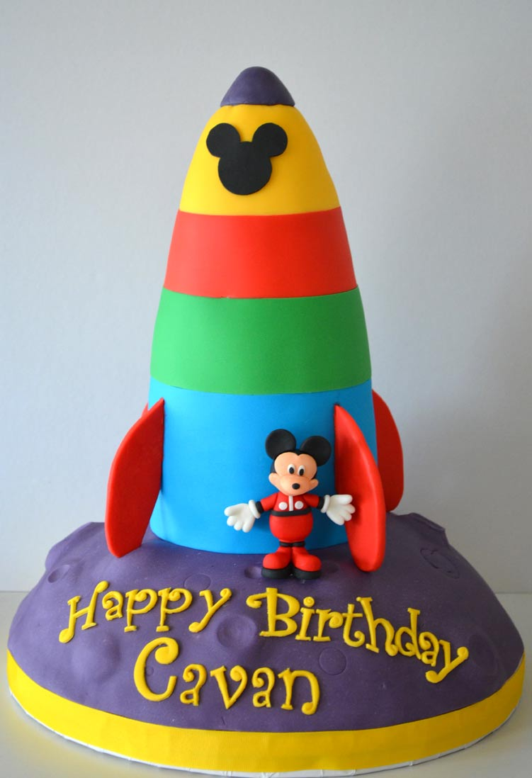 Mickey Mouse Rocket Cake Cake Amp Cupboard