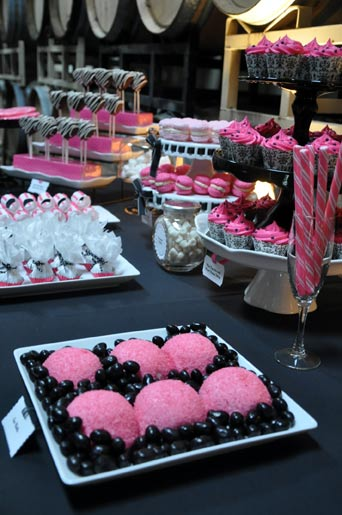 Pink And Black Dessert Table Cake Amp Cupboard