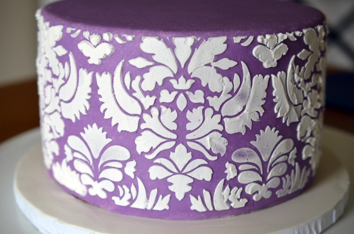Stenciled Bottom Tier